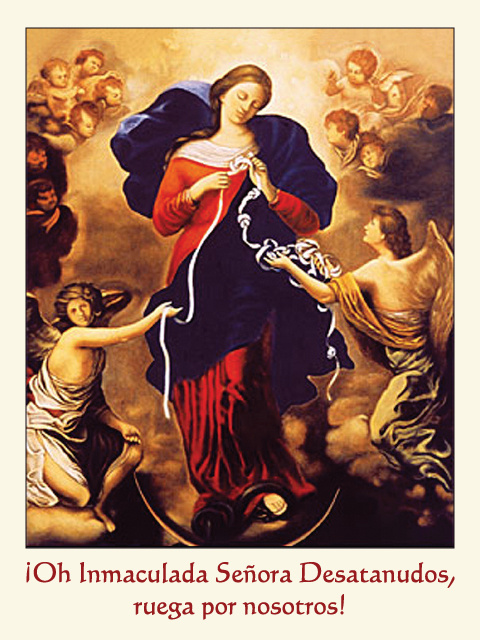 *SPANISH* Our Lady Undoer of Knots Prayer Card