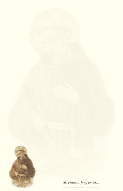 St. Francis of Assisi Stationery