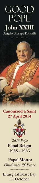Special Limited Edition Collector's Series Commemorative Pope John XXIII Canonization Bookmarks
