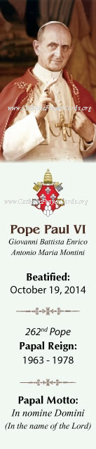 ***ON-SALE***CLOSEOUT***Special Limited Edition Collector's Series Commemorative Pope Paul VI Beat