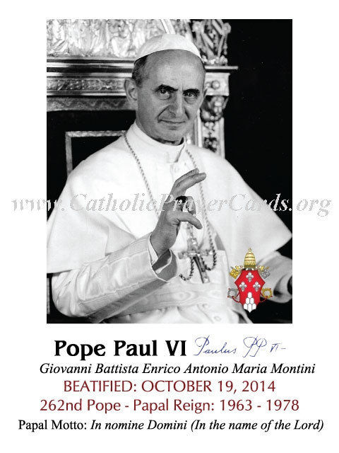***ON-SALE***CLOSEOUT***Special Limited Edition Commemorative Pope Paul VI Beatification Magnet