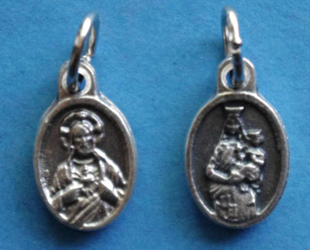 Sacred Heart / Our Lady of Mount Carmel Charm