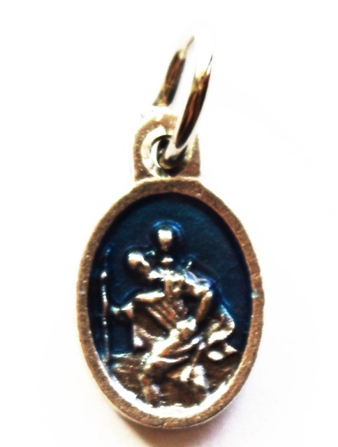 St. Christopher Blue Charm