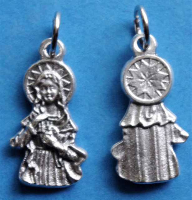 Immaculate Heart of Mary Silhouette Charm