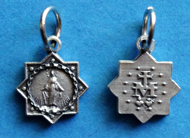 Miraculous Medal Star Charm