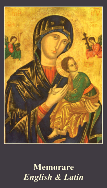 *BILINGUAL* Memorare Prayer Card (Latin/English)