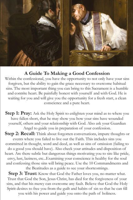 Guide to a Holy Confession Card