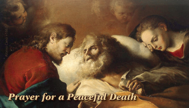 St. Joseph Prayer for a Peaceful Death Holy Card