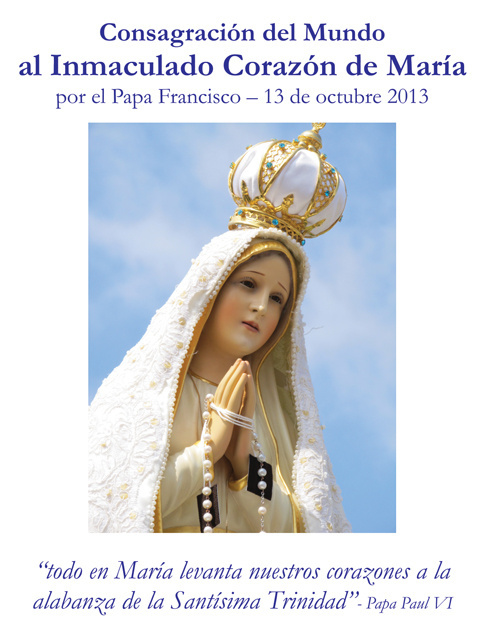 *SPANISH* Consecration to the Immaculate Heart of Mary Prayer Card