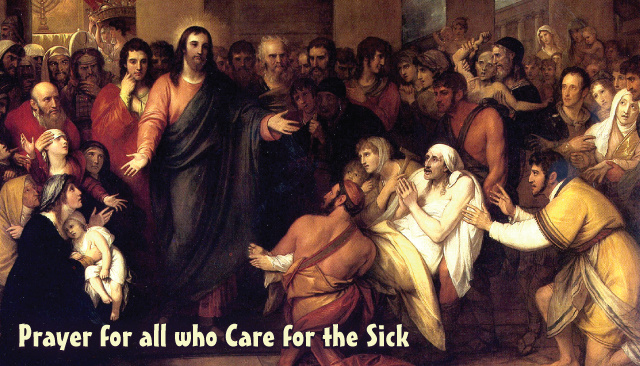 Prayer for All Those Who Care for the Sick - Holy Card