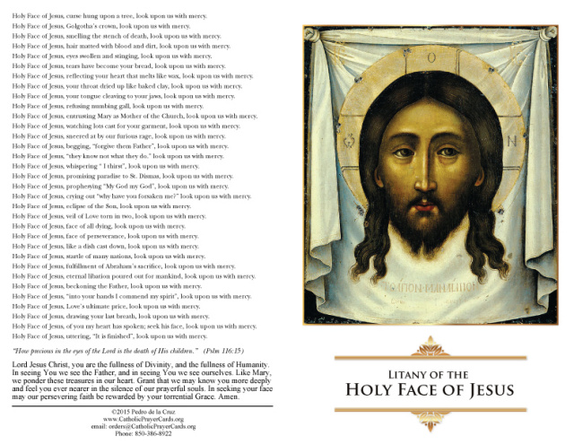 Litany of the Holy Face of Jesus