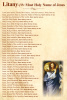 Litany of the Holy Name of Jesus Prayer Card