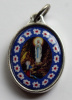 "Our Lady of Lourdes ""Murano Style"" Medal"