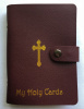 Holy Card Holder Book - CHRISTMAS Burgundy