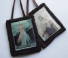 Divine Mercy Woven Medallion Wool Scapular