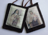 St. Therese Woven Medallion Wool Scapular