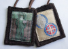 St. Benedict Woven Medallion Wool Scapular