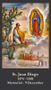 *BILINGUAL* St. Juan Diego Prayer Card