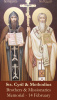 Saints Cyril & Methodius Prayer Card