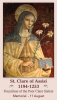 St. Clare Prayer Card