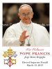 Special Limited Edition Commemorative Pope Francis Magnets