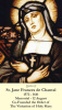 St. Jane Frances de Chantal Holy Card